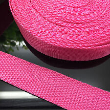 "NEW DIY 50 Yards 1"" 25mm Width Rose Red Nylon Webbing Strapping Sewing craft P08"