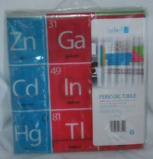 "Periodic Table Of Elements Novelty Shower Curtain Metal Grommets 70""x72"""