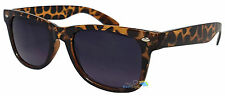 Ladies Sunglasses Brown Leopard Print Frame Wayfarer Dark Lens Tint UV400 Retro