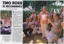 COUPURE DE PRESSE CLIPPING 1982 TINO ROSSI  je recommence  (8 pages)