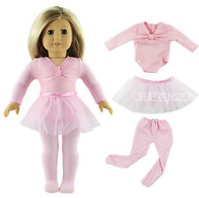 Hot Handmade Pink Clothes Dress Fits for 18 Inch American Girl Dolls