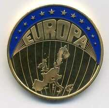 Medaille Europa Farb ECU 1998 vergoldet M_823