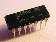 10x 74LS00PC Quad 2-Input NAND-Gate, Fairchild