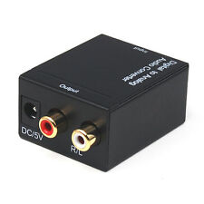 DIGITALE Ottico Coassiale Toslink ad analogico RCA L / R Audio Converter Adapter S / PDIF