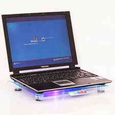 "LED USB 14.1""-15.4"" Laptop Notebook Cooling Stand Big Fan Cooler Pad Blue HK"