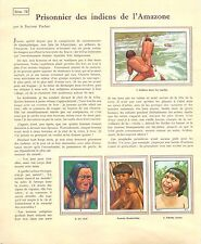 INDIENS AMAZONIE AMAZONIA PAR DOCTEUR PUCHER  IMAGES CARDS PLANCHE ILLUSTRATION