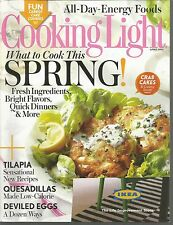 Cooking Light April 2014 Tilapia/Quesadillas/Deviled Eggs/All-Day-Energy Foods