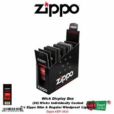 Zippo Display Box (24) Replacement Wicks, Individually Carded #2425