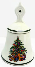 Noel Small Christmas Candy Dish With Lid Bell Shape Wood & Sons