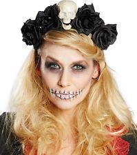 Totentanz Haarreif mit Rosen für Damen NEU - Karneval Fasching Hut Mütze Kopfbed