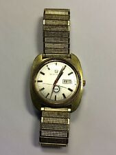 RARE! VINTAGE SETH THOMAS MEN'S WRIST WATCH UAW LOGO, AUTOMATIC,WORKSreaddetail