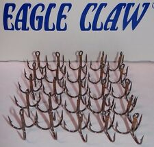 EAGLE CLAW X-SHORT-3X STRONG-TREBLE HOOKS-BRONZE-(25 PACK)-SIZE 1
