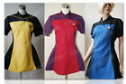 Star Trek TNG Party Dress Ball Gown Duty Uniform Outfit Cosplay Costume+3 Colors