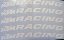 Réplica De Ajuste KTM Blanco Mate Racing RUEDA LLANTA calcomanías X 12 RC8 Adventure Duque Super
