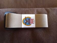 US Military Riggers Belt Size 52 Color Sand