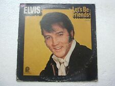 ELVIS PRESLEY LETS BE FRIENDS  RARE LP RECORD vinyl  USA ex