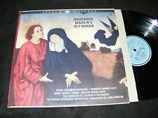 BRUCKNER Mass No 3 In F Minor Clean 1960s ANGEL LP STEREO Banner FORSTER Blue Lb