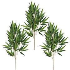 3 Artificial 54cm Bamboo Plant Branches with Bamboo Leaves - Decorative Foliage