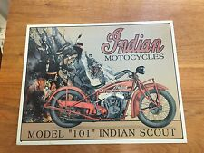 """Indian Motorcycle Model """"101"""" Indian Scout Metal Sign"""