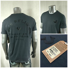 NWT $68 True Religion Men`s Gray CRAFTED with Pride T-shirt Short Sleeve Sz M #1
