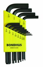 Bondhus 12237 Set of 13 Hex L-wrenches, Short Length, sizes .050-3/8-Inch