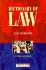 Dictionary of Law by L. B. Curzon (1998, Paperback, Revised)