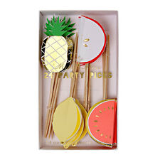 Meri Meri - Fruit Party Picks - Pineapple, Melon, Apple, Lemon