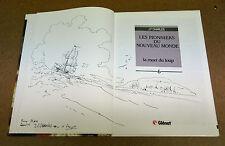 J-F CHARLES - DEDICACE - LES PIONNIERS DU NOUVEAU MONDE - T6 - EO (EM)