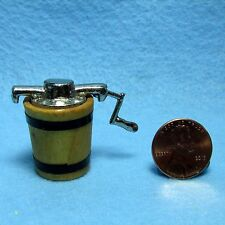 Dollhouse Miniature Old Fashion Ice Cream Maker with Crank ~ IM65315