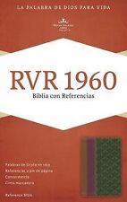 RVR 1960 Biblia con Referencias, Chocolate/ciruela/verde Jade Símil Piel...