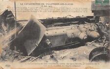 CPA 78 CATASTROPHE DE VILLEPREUX LES CLAYES 1910 LA LOCOMOTIVE DU TRAIN TAMPONNE