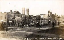 Eastleigh. Marsh's Stores After the Fire May 8 1909 by R.J. Clement, Eastleigh.