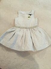 Max Studio Baby  Girl's Fancy Formal Party Dress Size 2T NWT Silver Holiday