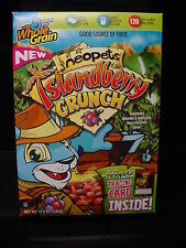 FLAT box Neopets ISLANDBERRY CRUNCH Cereal( NO Trading PROMO CARD game toy )