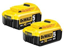 Genuine Dewalt DCB184 18v 5.0Ah XR Li-Ion 5ah Lithium Slide Battery Twin Pack