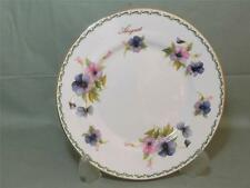 Queens China Flower of the Month Salad Plate for August  (Gold Rim)