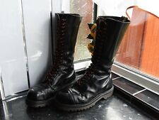 WOMEN'S BLACK DR.MARTENS 20 EYE MADE IN ENGLAND BOOTS SIZE UK 7