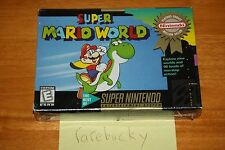 Super Mario World (Super Nintendo SNES) NEW SEALED V-SEAM, RARE CLASSIC!