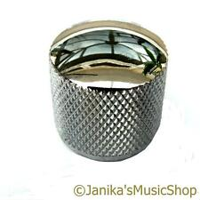 Electric guitar or bass chrome knurled metal control knob pot switch etc