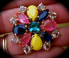 KATE SPADE NEW YORK RARE KALEIDOSCOPE FLORAL FLOWER JEWELED RING 6 NEW EXQUISITE