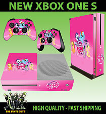 XBOX ONE S SLIM Console Sticker My Little Pony Pink Rainbow SKIN & 2 PAD SKINS