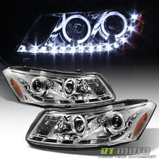 2008-2012 Honda Accord Sedan Projector Headlights w/ DRL LED Running Lamps 08-12