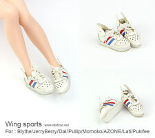 Wing sports shoes_WHITE for Blythe / DAL / Pullip / Momoko/AZONE/ Lati_y/Pukifee