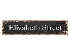 SP0553 ELIZABETH STREET Street Sign Home Cafe Store Shop Bar Chic Decor Gift