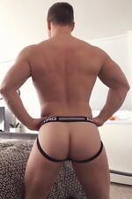 NASTY PIG Sport Imprint Jock Strap White With Black Trim Football XL Hot!!
