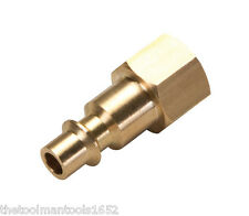"NEW - Brass Quick Connect 1/4"" NPT  Female Plug (M-Style ) -  Air Tool Fitting"