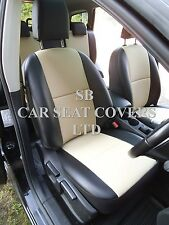 TO FIT A NISSAN QASHQAI+2 CAR,SEAT COVERS, DIESEL, ROSSINi BEIGE BLK LEATHERETTE