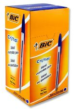 ORIGINAL BIC Cristal Medium Ballpoint Pens Biros Ball Pen BLUE BOX 50