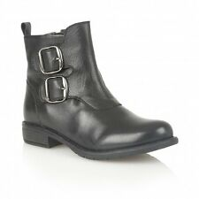 Ladies Lotus Jodie Black Leather Ankle Boots - EU 38