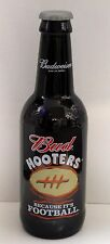 LARGE BUDWEISER / HOOTERS because its football BEER BOTTLE 14.5 TALL w/Twist Top